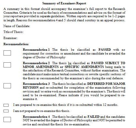 PhD Thesis Evaluation Report Sample.   Download External Examiner Report  Sample - PhdTalks