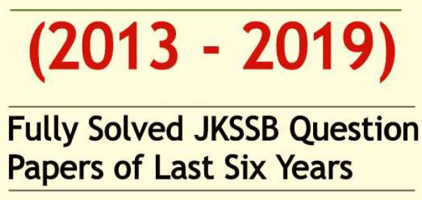 jkssb previous year papers