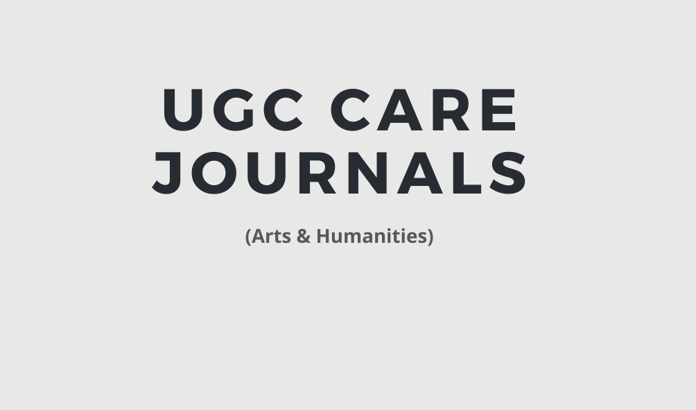 UGC CARE Journals 2021: Arts and Humanities - PhdTalks.org
